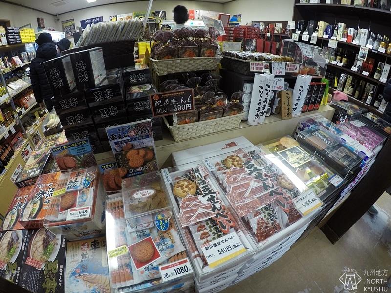 ร้านขายของฝากในปราสาทคุมาโมโตะ