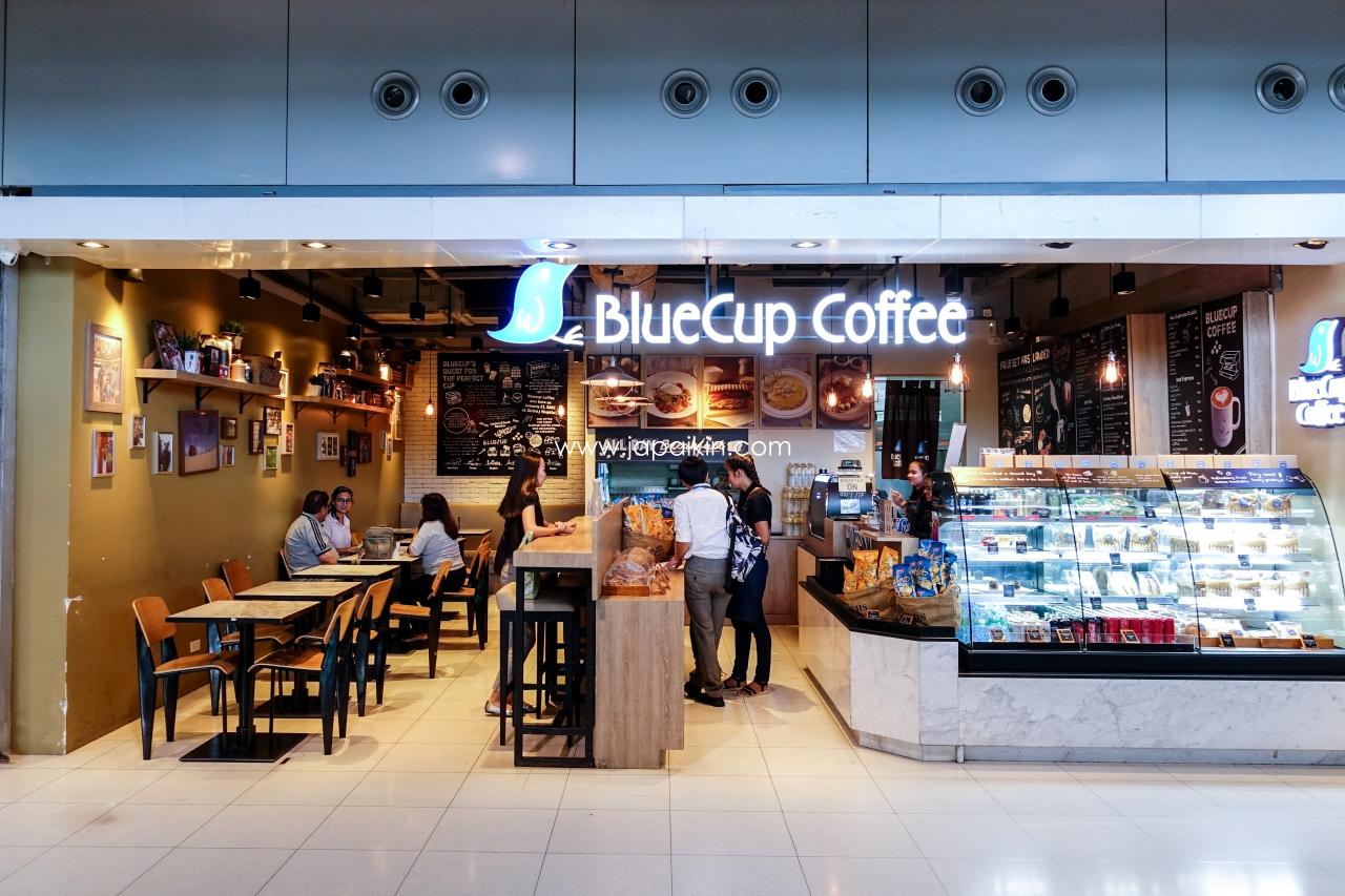 รีวิว BlueCup Coffee สุวรรณภูมิ