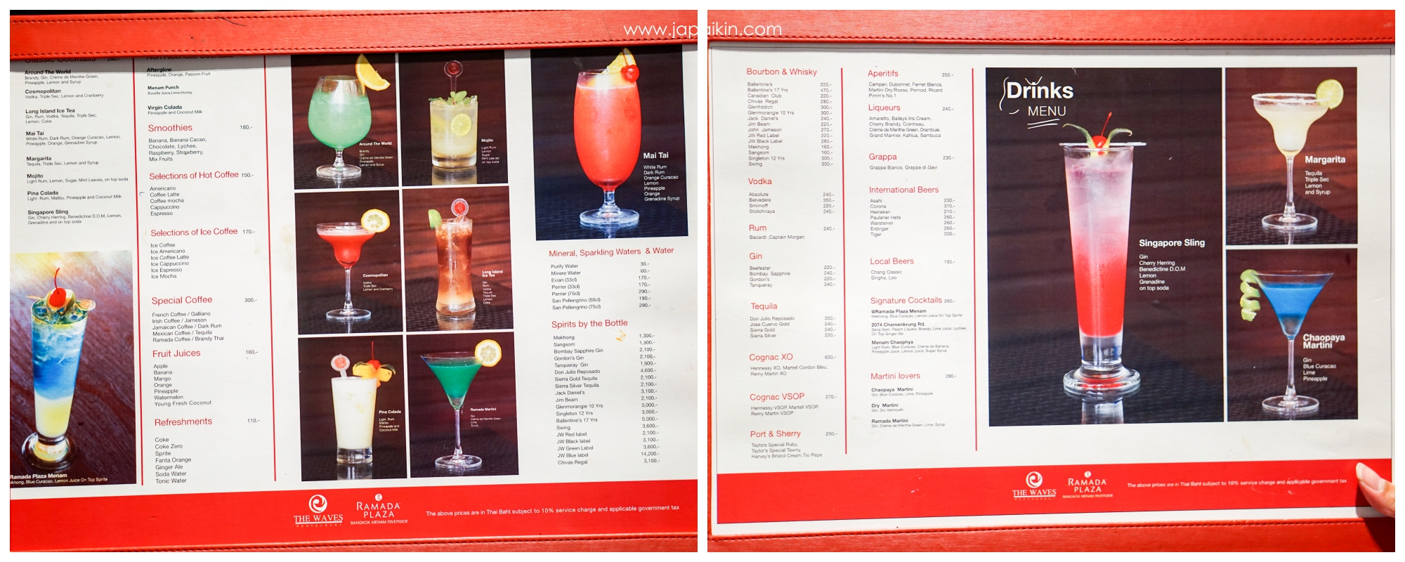 Drinks Menu - The Terrace@72 @ Ramada Plaza